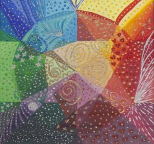 """Mandalamålning 9 """"NOLL"""" - Obegränsad & Oändlig Energi"""