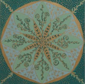 """Mandalamålning 8 """"GUDOMLIG PERFEKTION"""" - Budskap: Läker och Förenar"""