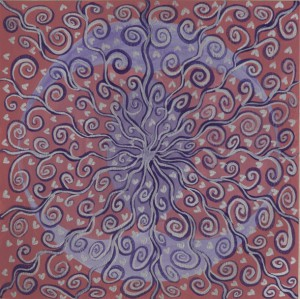 "Mandalamålning 2 ""2LOVE"" - Budskap: Oneness"